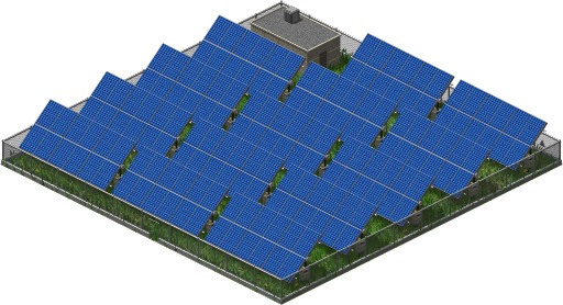 solar power plant. nuclear power plant that