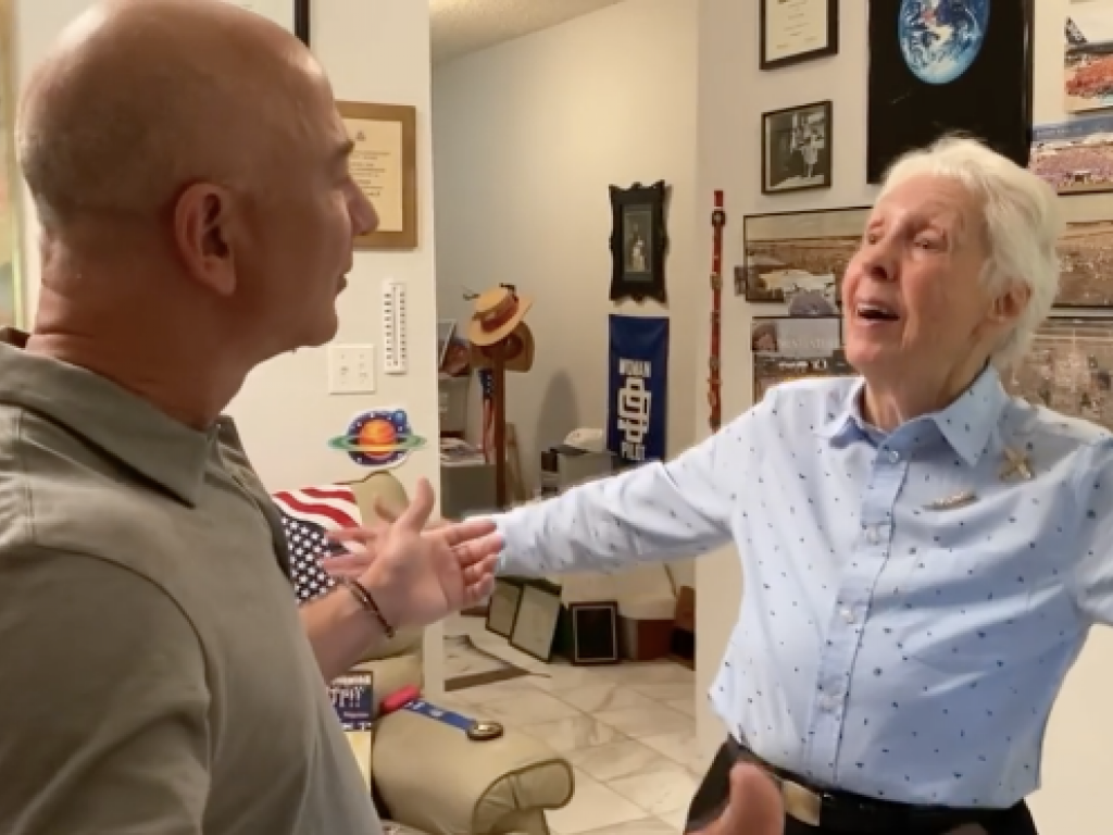 This 82-year-old woman is going to space today and she couldn't be more thrilled