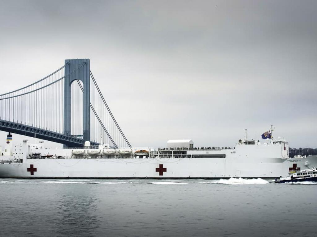 Comfort Comes To New York Harbor