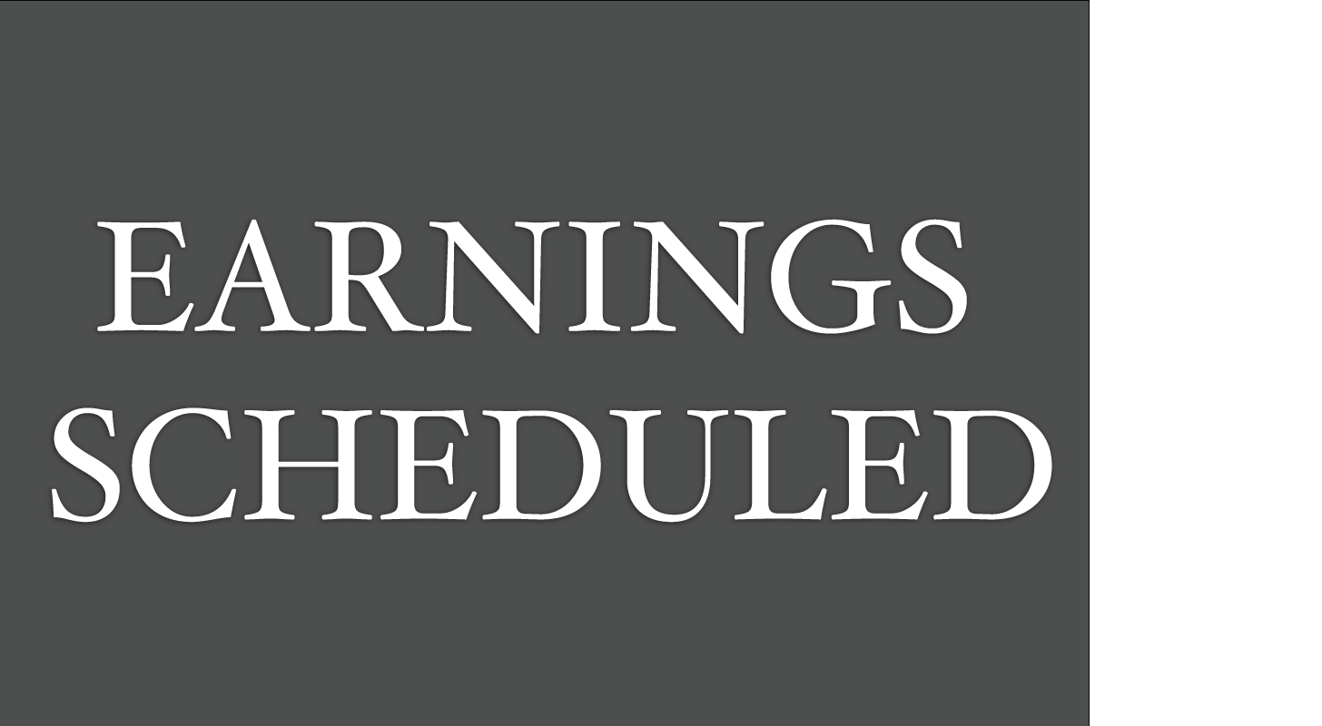 Earnings Scheduled For May 29, 2020