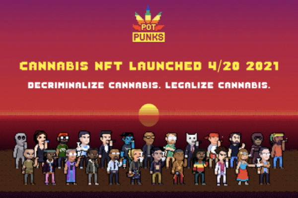NFTs Strongly Gaining Popularity In The Cannabis Space-- PotPunks For 4/20