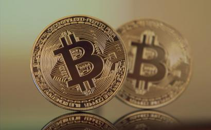 An illustration of bitcoin.