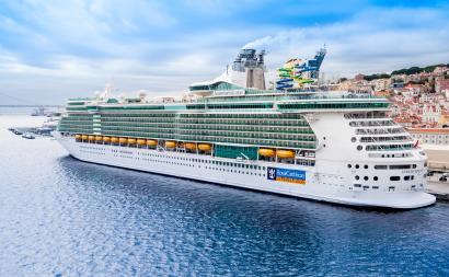 A Royal Caribbean cruise ship.