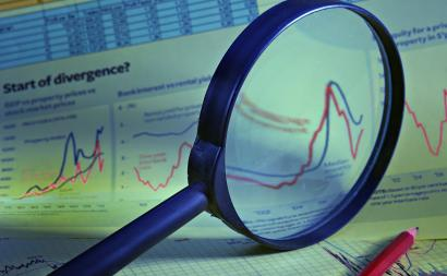 Magnifier on financial charts