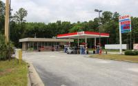 An Exxon gas station.