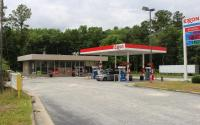Exxon Mobil gas station.