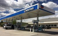 A Chevron gas station.