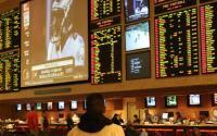 Las Vegas sports betting area.