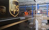 UPS van and delivery man