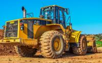 A Caterpillar bulldozer.