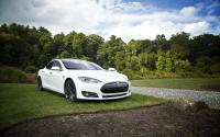 A Tesla sedan.
