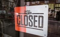 """""""Sorry we're closed"""" sign. Photo via Pixabay."""