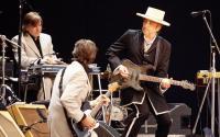 Bob Dylan playing live.