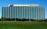 """Ford's """"Glass House"""" headquarters in Dearborn, Michigan."""