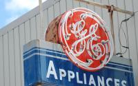 A vintage GE sign.