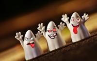 Halloween ghosts.