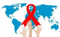 An HIV-AIDS awareness photo illustration.