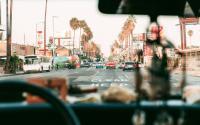 A street scene in Los Angeles.