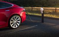 A Tesla charging station.