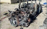 Burned Model S After Crash