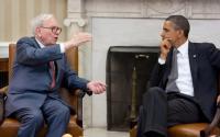 President Barack Obama meets with Warren Buffett in the Oval Officein 2011.