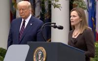 President Donald Trump and Supreme Court justice nominee Amy Coney Barrett.