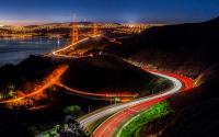 Traffic near San Francisco's Golden Gate Bridge.