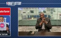 Ben Wallace at NBA Draft Lottery. Courtesy of ESPN.