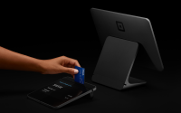 A Square payment device.