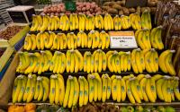 Bananas for sale at Whole Foods.
