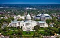 An aerial view of Washington, D.C.
