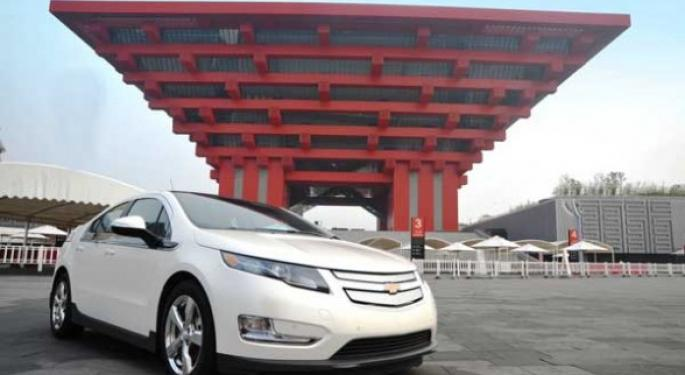 GM To Sell Chevy Volt In China