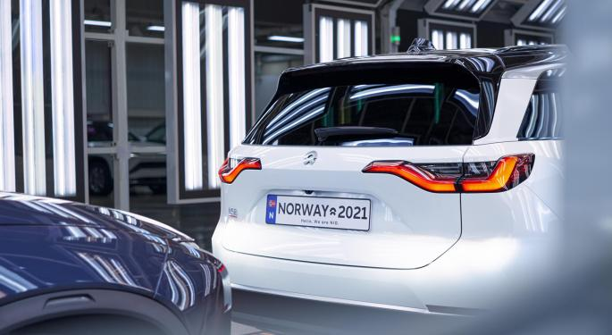 Nio empieza a enviar el SUV ES8 a Noruega
