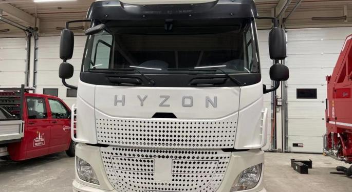 Hyzon Motors To Get $570M From SPAC Backing Fuel Cell Technology