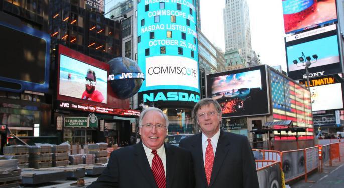 CommScope Falls 5%, Company Says Major Shareholder Sold 20 Million Shares
