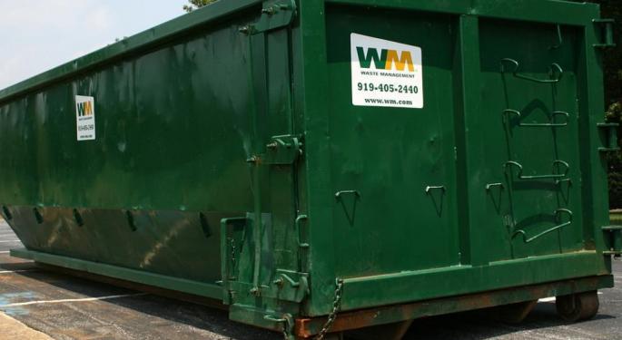 Large Option Trader Betting Waste Management Slide Continues