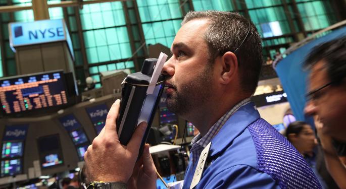 Mid-Morning Market Update: Markets Open Lower; Lululemon Lowers Q4 Outlook