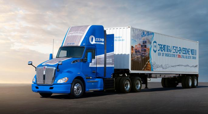 Toyota Equips Kenworth Class 8 Truck With Updated Fuel Cell
