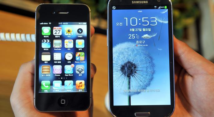 Latest Data Shows Apple and Samsung Pulling Ahead in Smartphone Wars