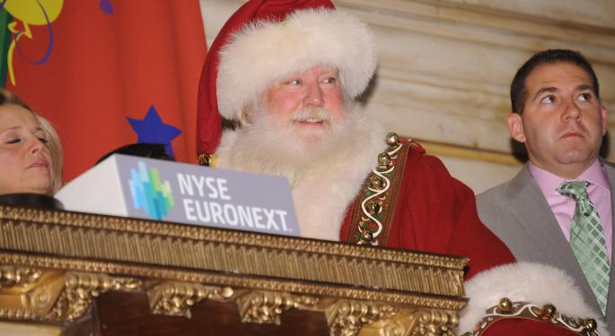 Signs Pointing Toward Another Santa Claus Rally In 2013