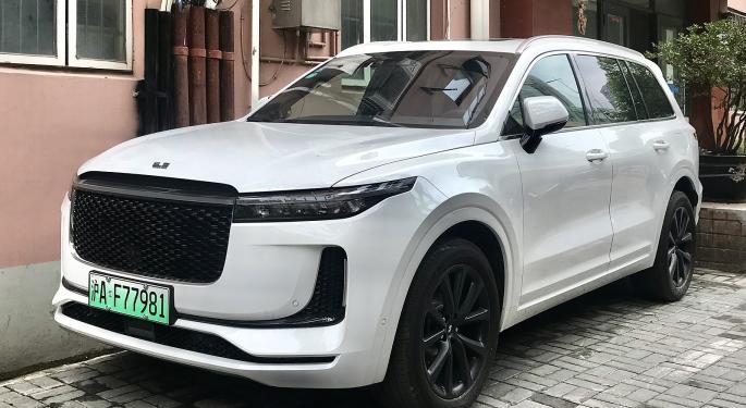 Chinese EV Manufacturer Li Auto Files For Nasdaq Listing