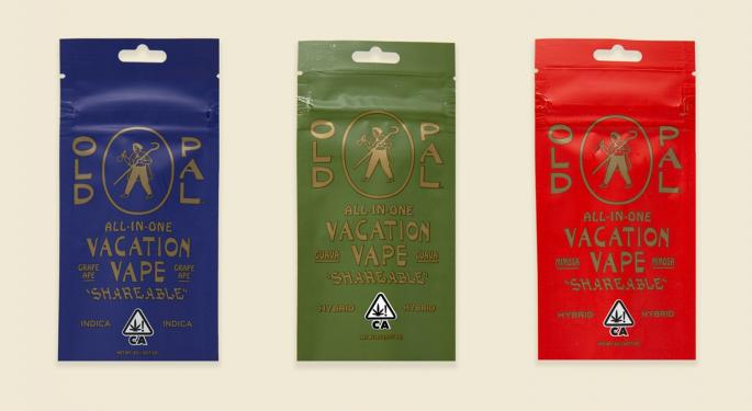 New Cannabis Products: OId Pal's Vacation Vape, Refrigerated Flower And Moxie Edibles