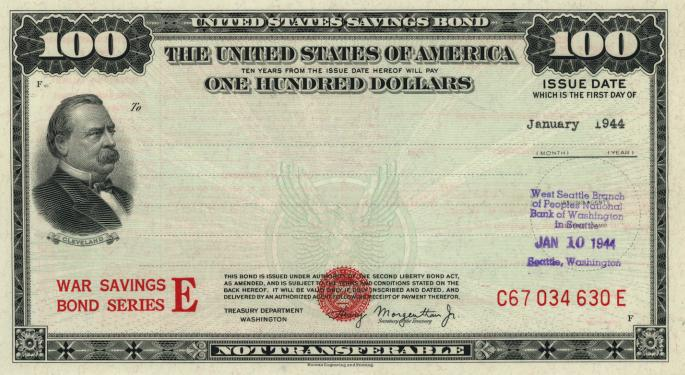 This Day In Market History: US Treasury Issues First Savings Bond