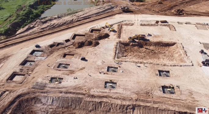 Drone Footage Shows Tesla's Rapid Progress On Texas Gigafactory