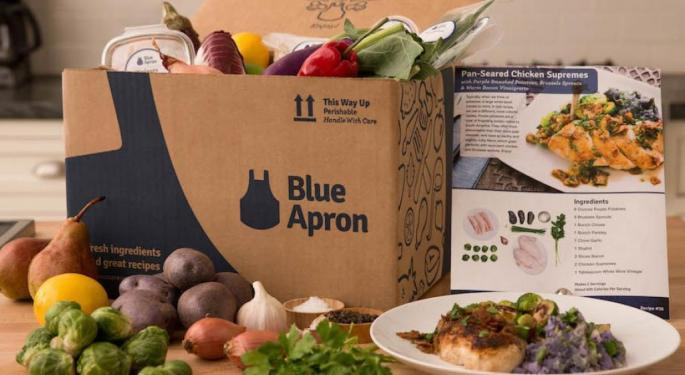 Why Blue Apron's Stock Is Trading Higher Today