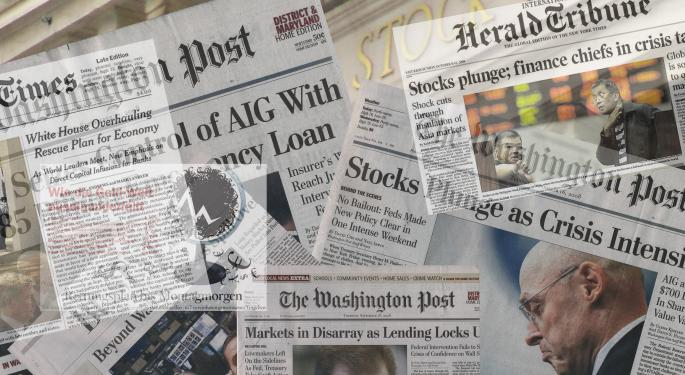 This Day In Market History: Dow Hits 2009 Financial Crisis Low