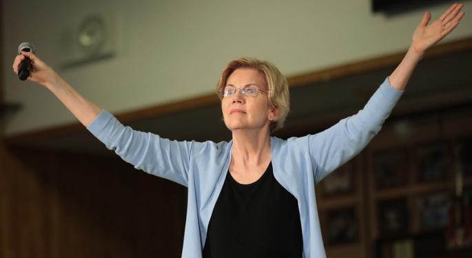 Sen. Elizabeth Warren Asks Federal Reserve To Break Up Wells Fargo