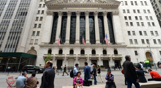 Mid-Morning Market Update: Markets Open Lower; RadioShack Reports Wider Loss