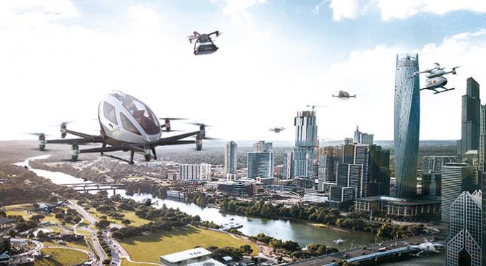 EHang Rallies As Chinese Robo Air Taxi Developer Responds To Short Seller