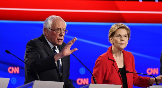 'What We Need Is A Political Revolution': Sanders, Warren Face Off With Moderate Democrats In Detroit